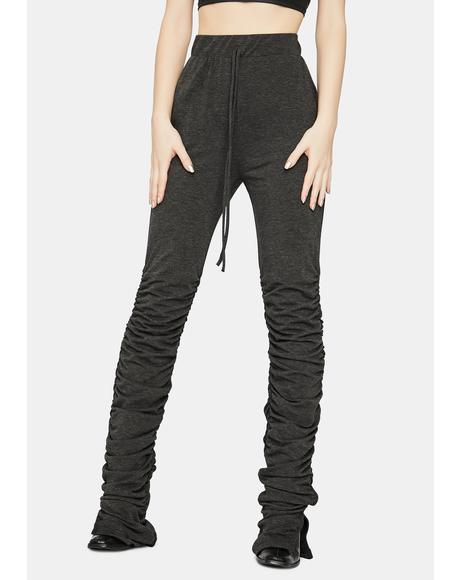 Casual Slay Ruched Sweatpants