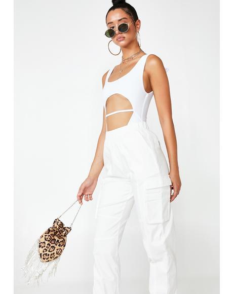 Ivory Elle Cut Out Bodysuit
