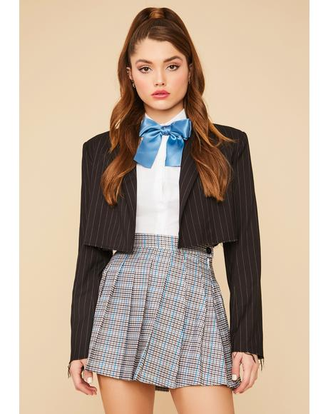 School Girl Chic Plaid Pleated Mini Skirt