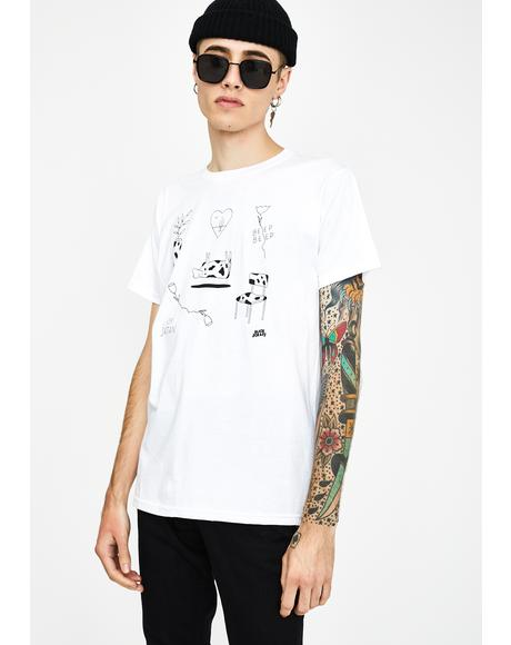 Cow Flash Graphic Tee