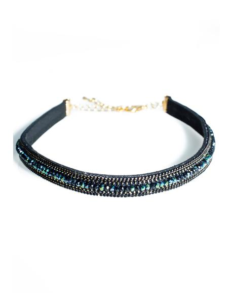 Night Skye Rhinestone Choker