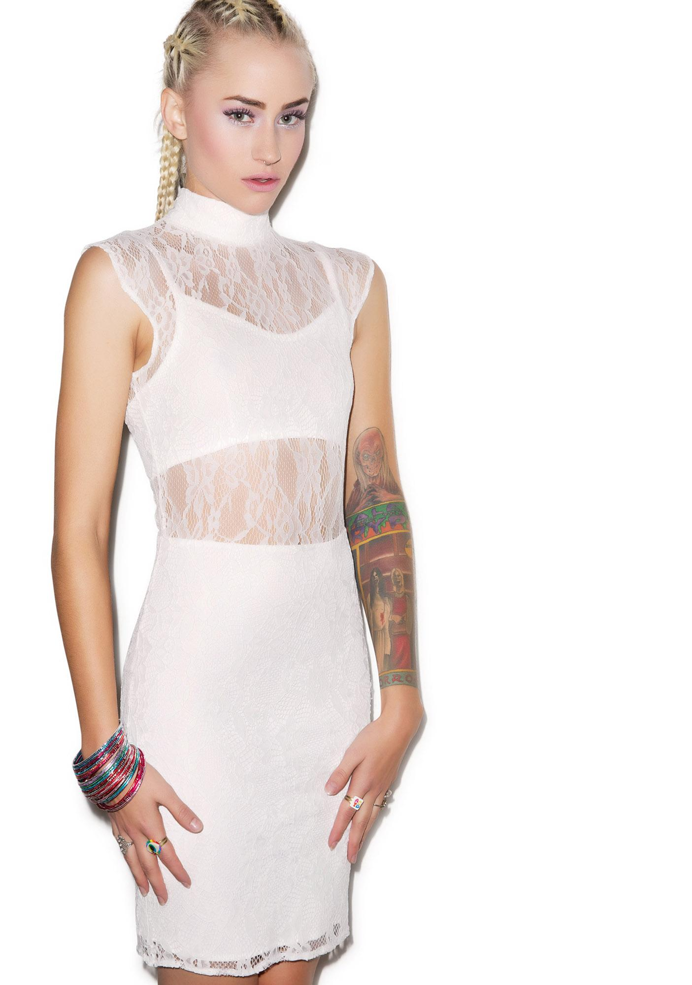 Tiger Mist Entrapment Lace Dress
