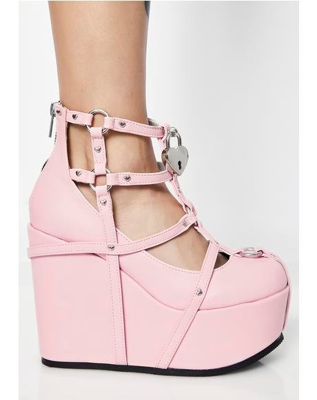 Blush Neo Romance Wedges