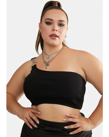 As You Wish One Shoulder Crop Top
