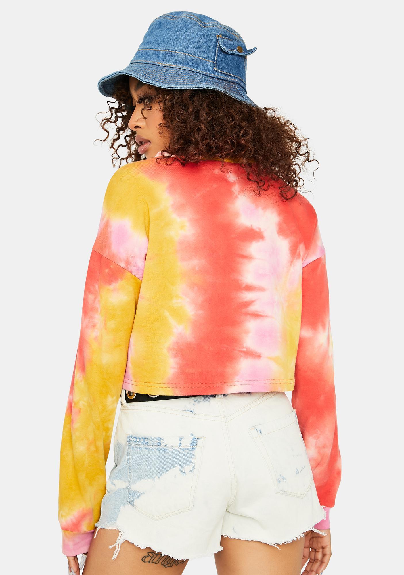 Rose Natural Trendsetter Tie Dye Sweatshirt