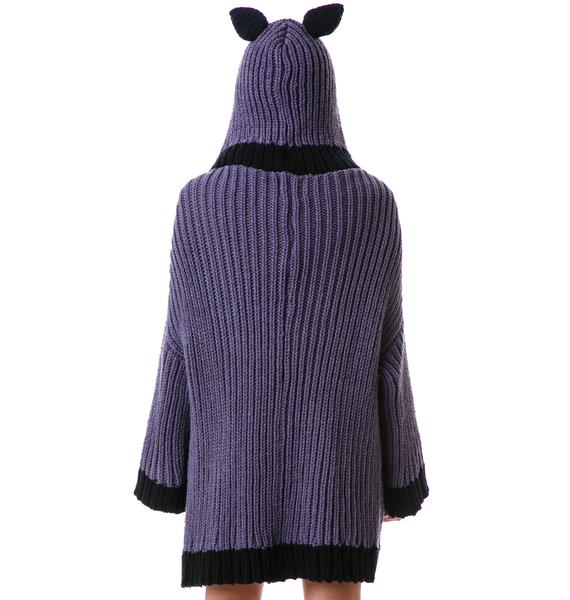 Fairground Bunny Got Nailed Cardigan