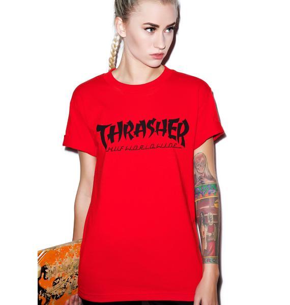 HUF HUF X Thrasher Asia Tour Tee