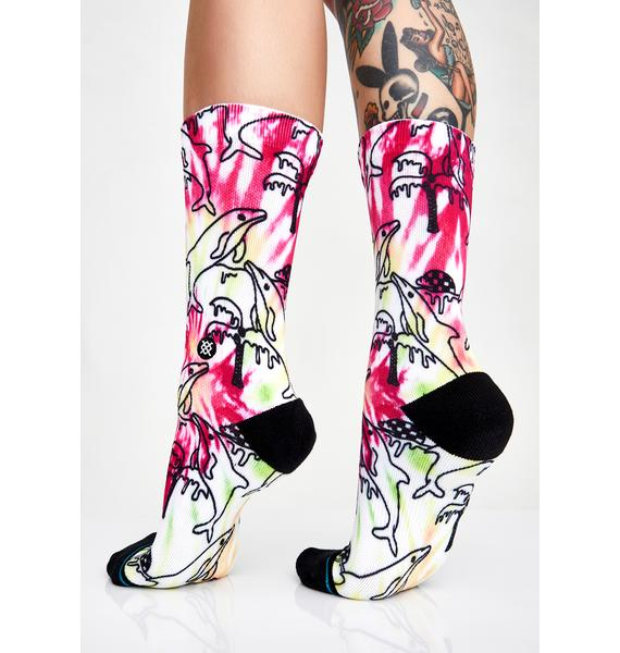 Stance Dolphin Friends Pique Socks