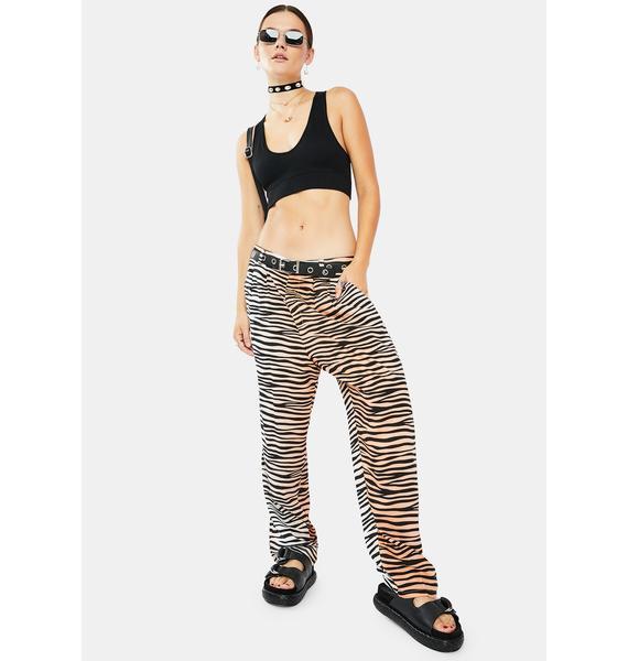 Obey Kitty Tiger Stripe Pants