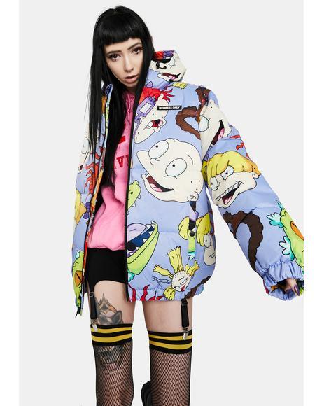 Nickelodeon Purple Puffer Jacket