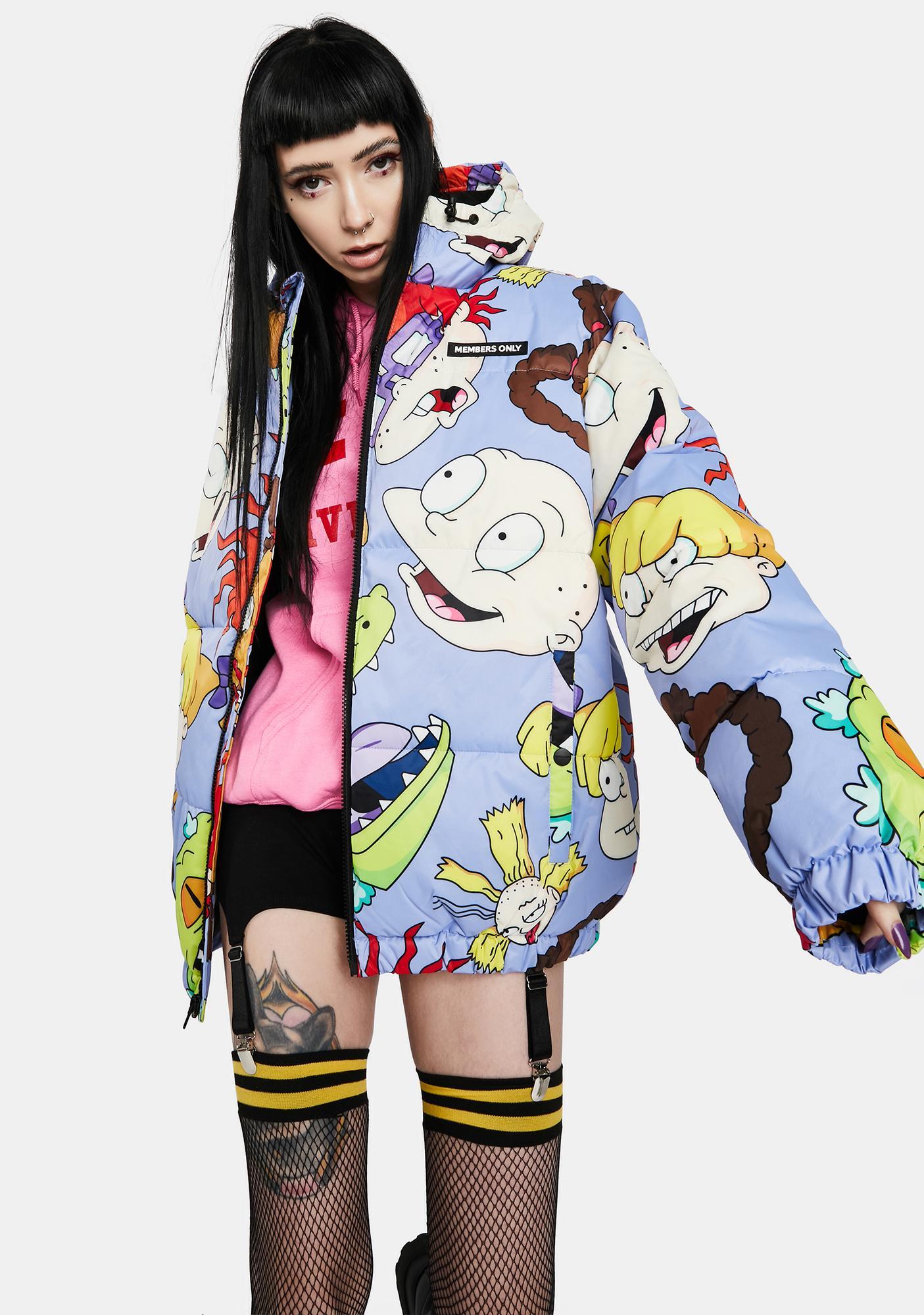Members Only Nickelodeon Purple Puffer Jacket