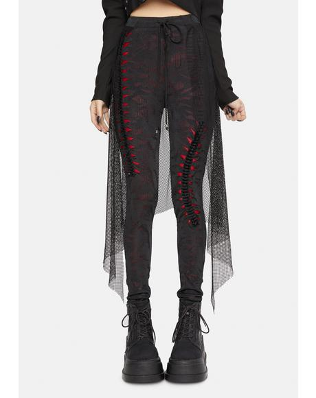 Goth Red Flame Leggings