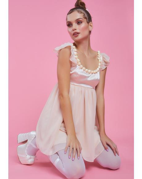 Primadonna Twirl Satin Babydoll Dress