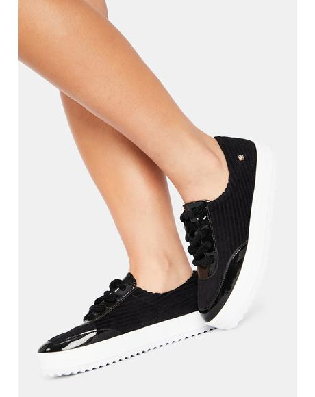 Black Torrington Platform Sneakers