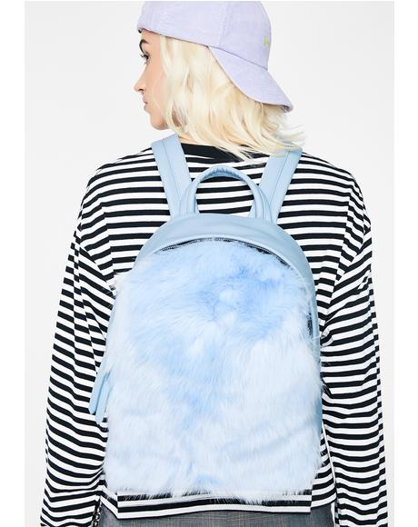 Frosty Faux Fur Backpack