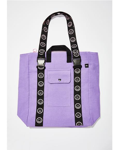 Happy Clasp Canvas Bag
