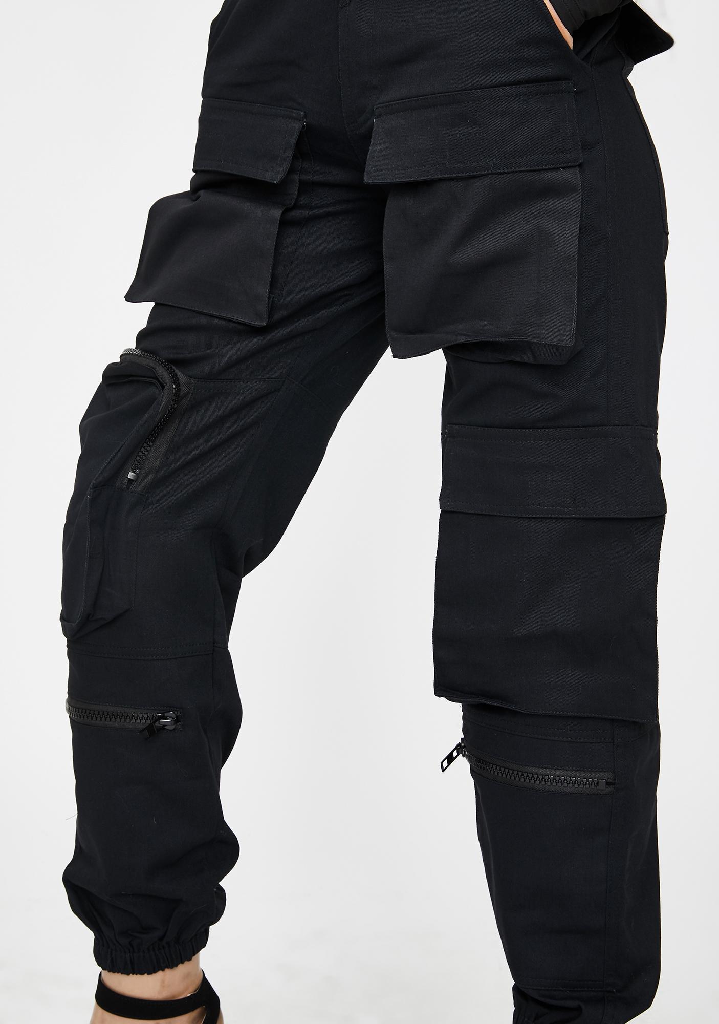 THE KRIPT Black Slayer Pockets Pants