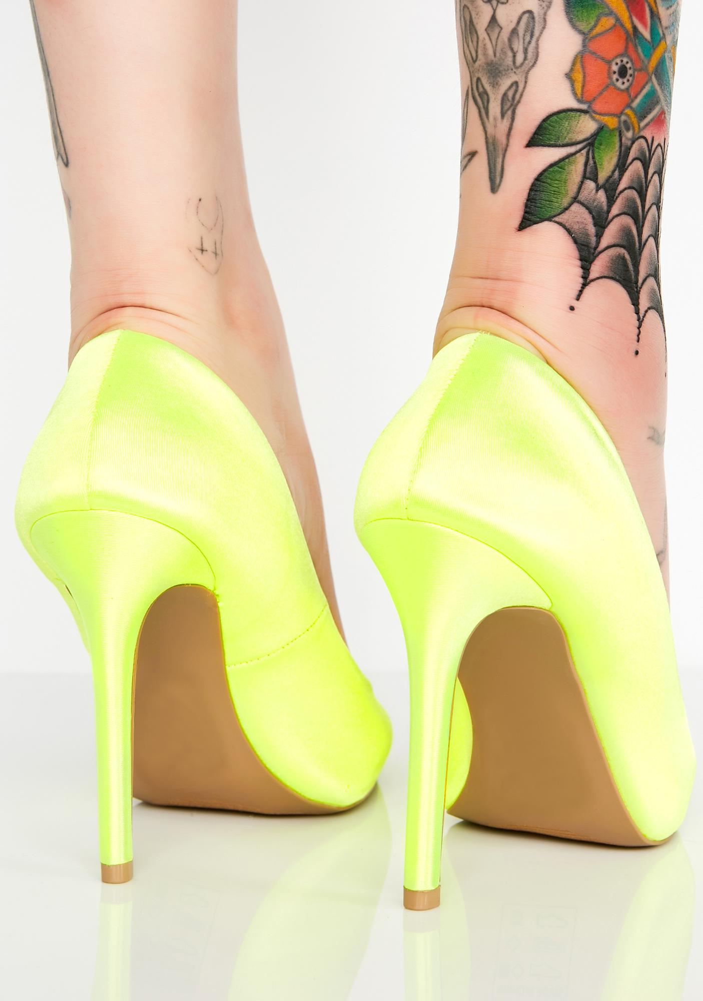 Material Girl Satin Heels