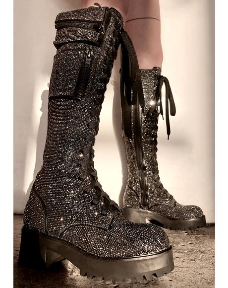 Bling Brigade Pocket Combat Boots