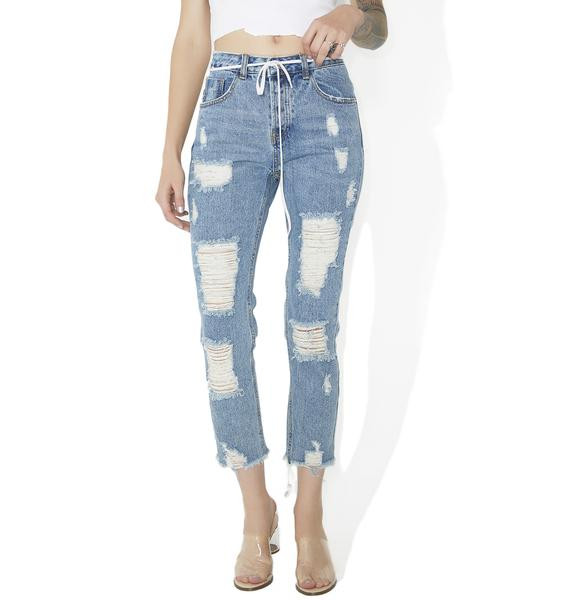 Out Of Time Distressed Jeans
