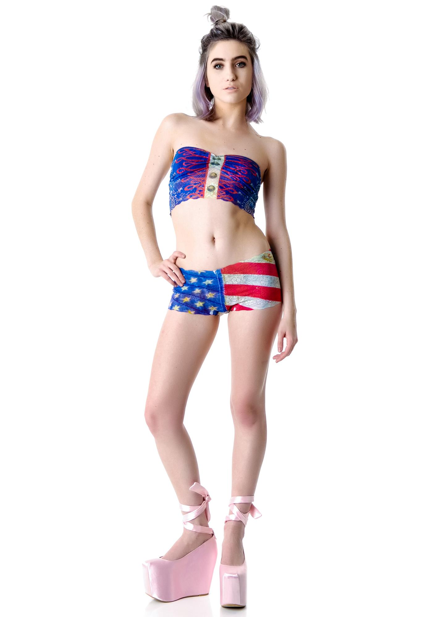 Private Arts American Woman Lace Set