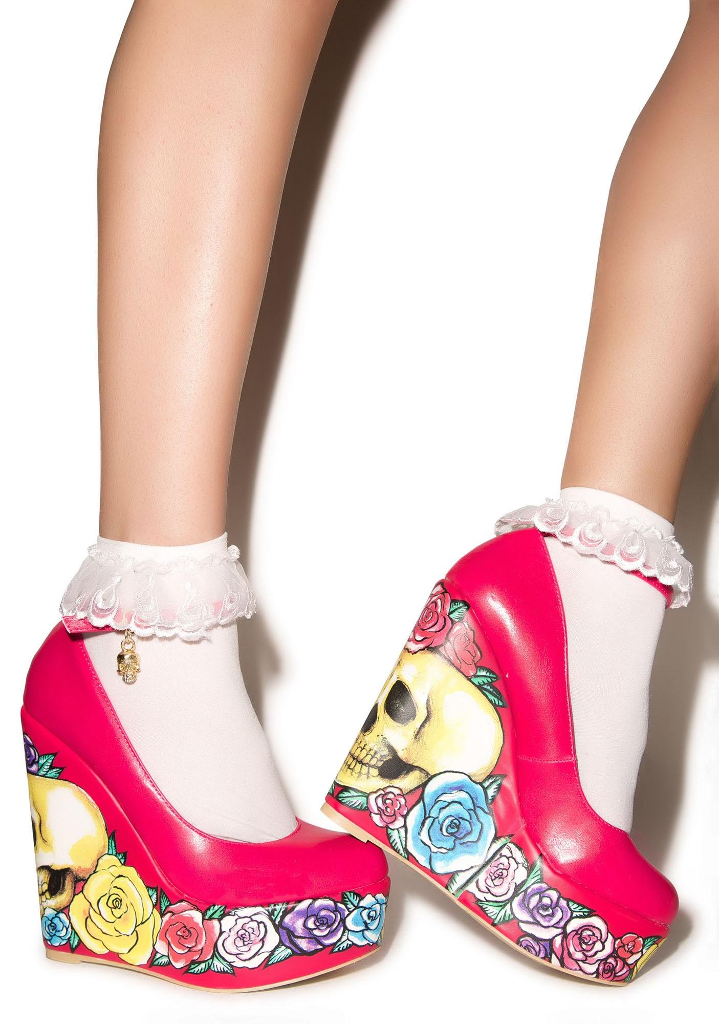 Iron Fist Calavera Rose Wedges