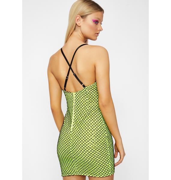 Slime In My Zone Sequin Dress