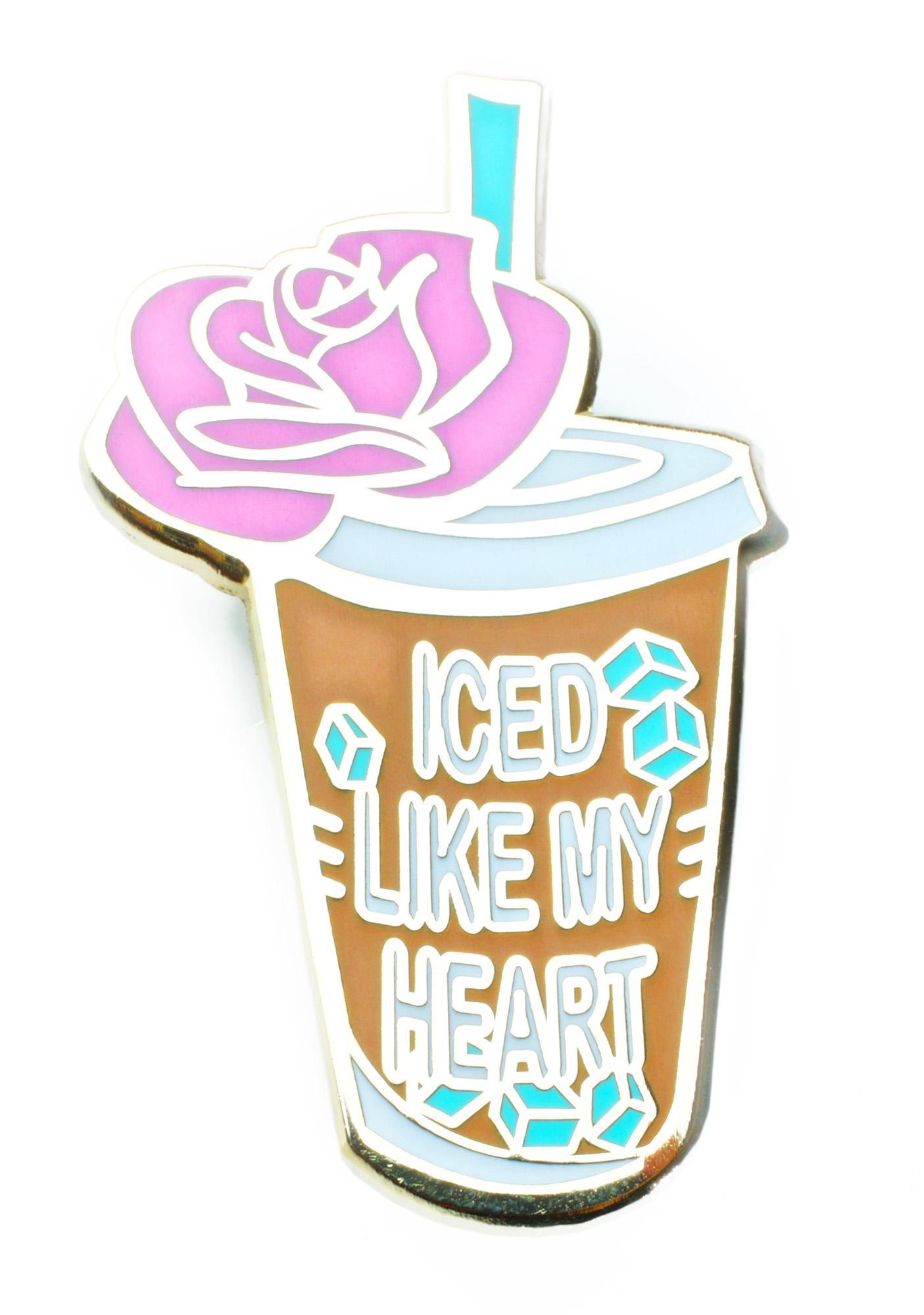 SugarLuxeShop Iced Like My Heart Pin