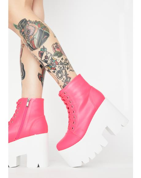 Kiss This Feeling Forever Platform Boots