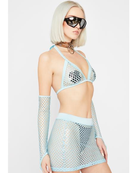 Synth Siren Fishnet Set