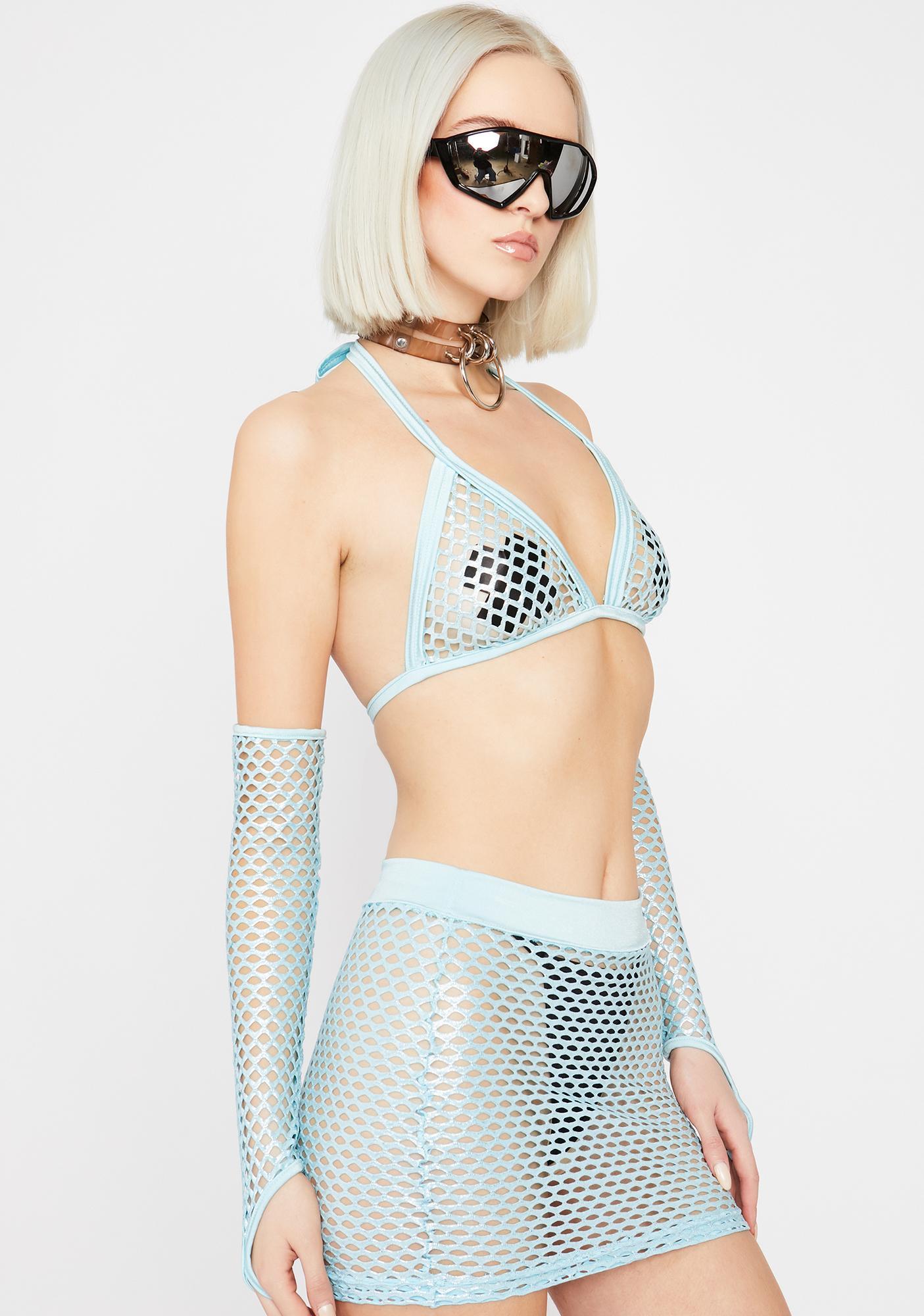 Synth Siren Fishnet Set
