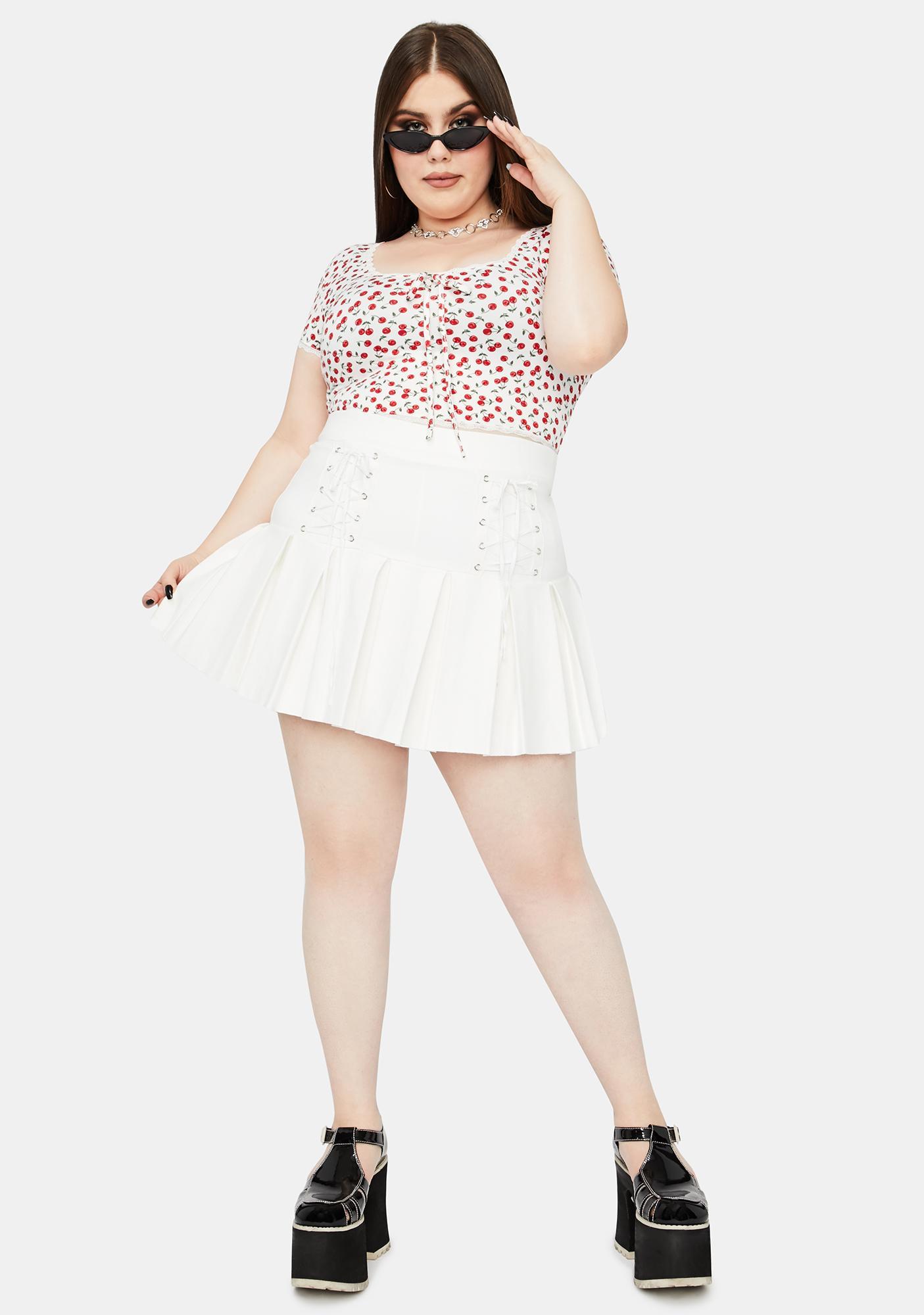 Miss Pure Modern School Girl Pleated Skirt