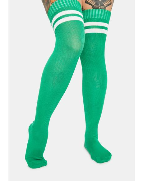 Cash Locker Room Gossip Thigh High Socks