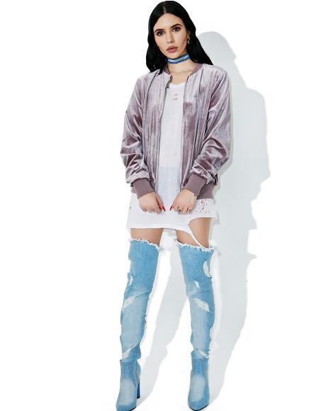 Soft Spot Velvet Jacket