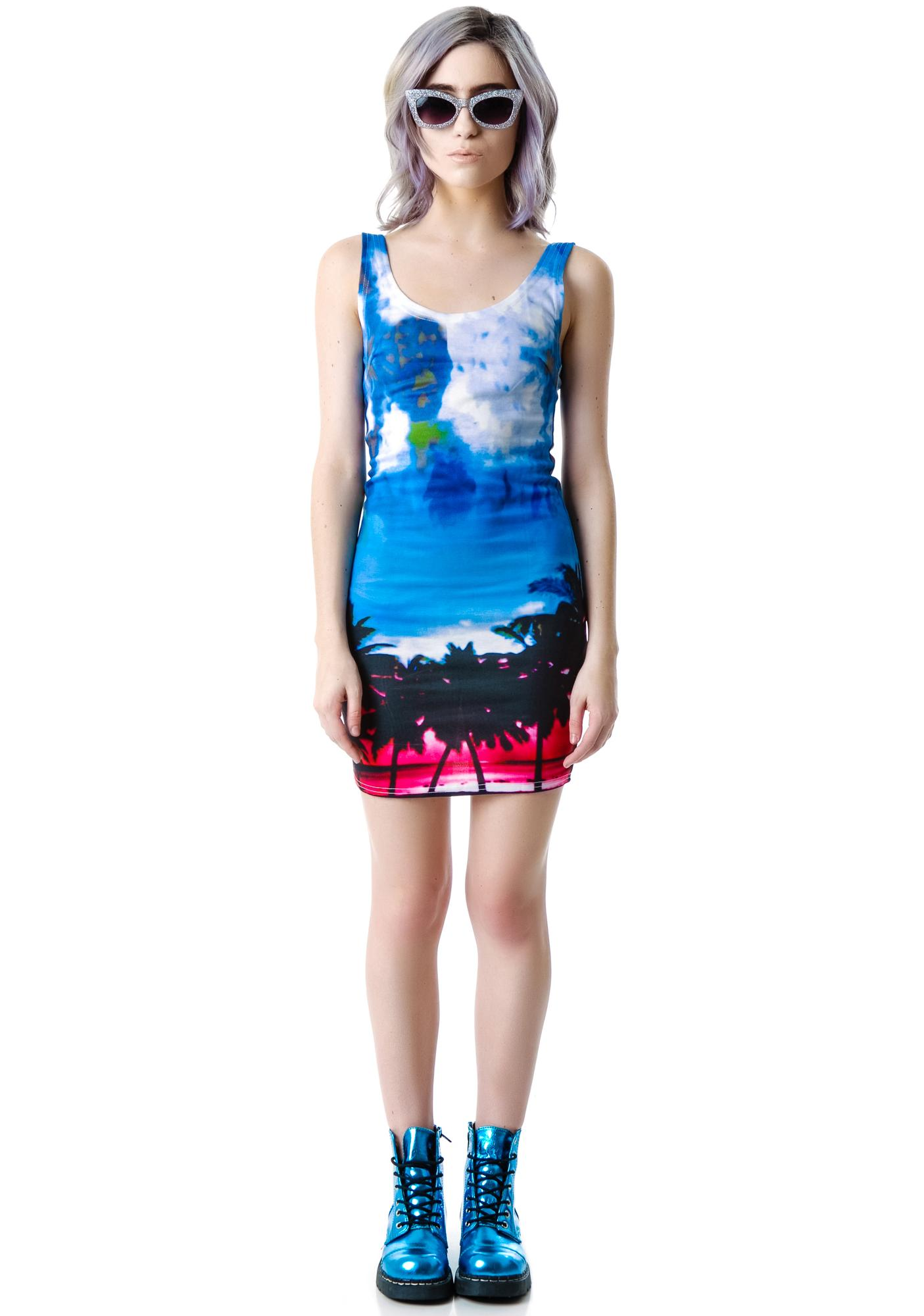 LA Sunrise Sunset Tank Dress