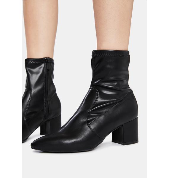 Make It Happen Patent Ankle Boots