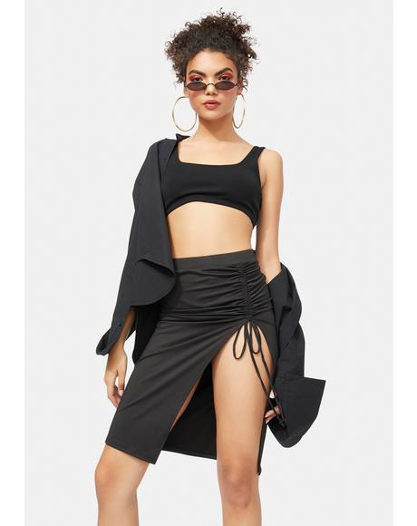 Thinkin' Bout You Ruched Skirt