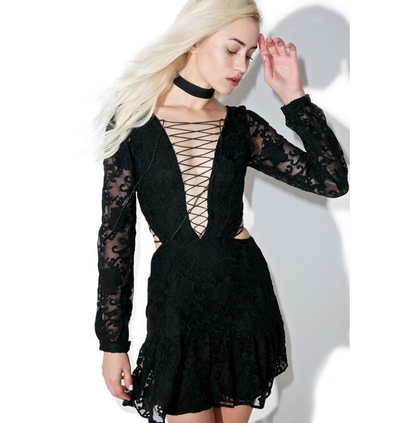 For Love & Lemons Jolene Lace-Up Dress