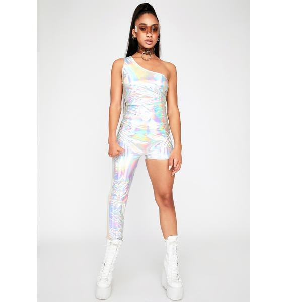Space Queen Holographic Catsuit