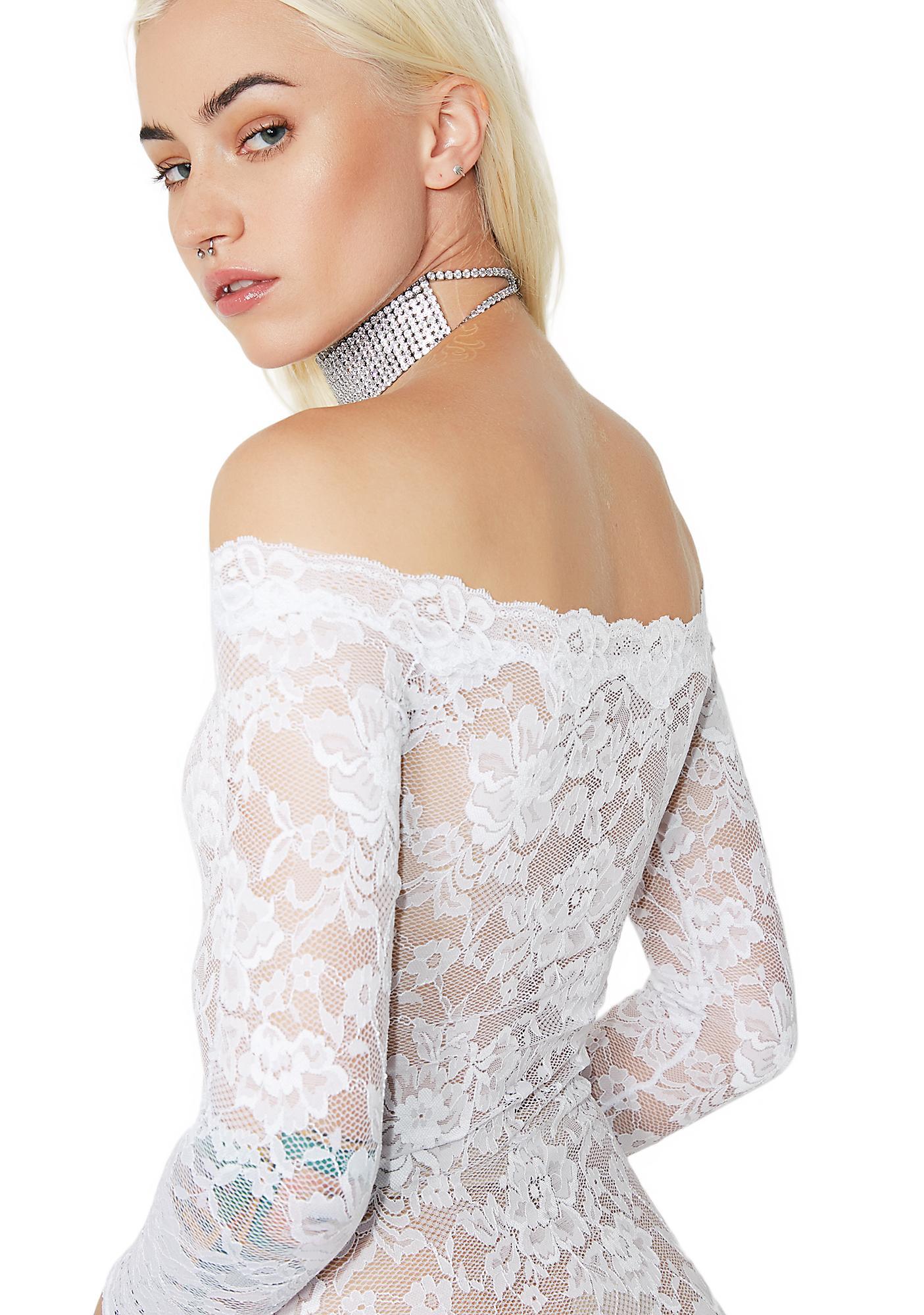 Picture Perf Floral Lace Bodysuit