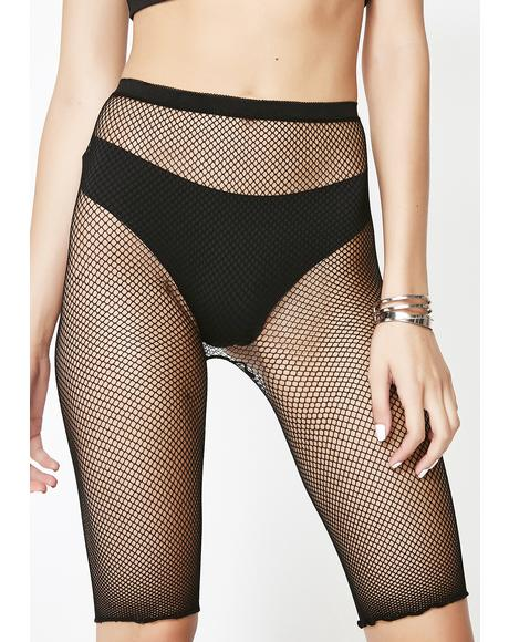 Ride It Out Fishnet Shorts