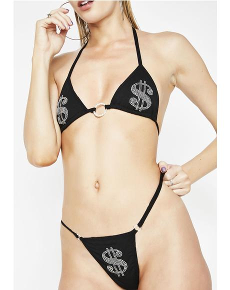 Ca$h Only Lingerie Set