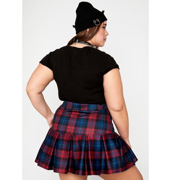 Pinot Legit Wicked Scholar Plaid Skirt