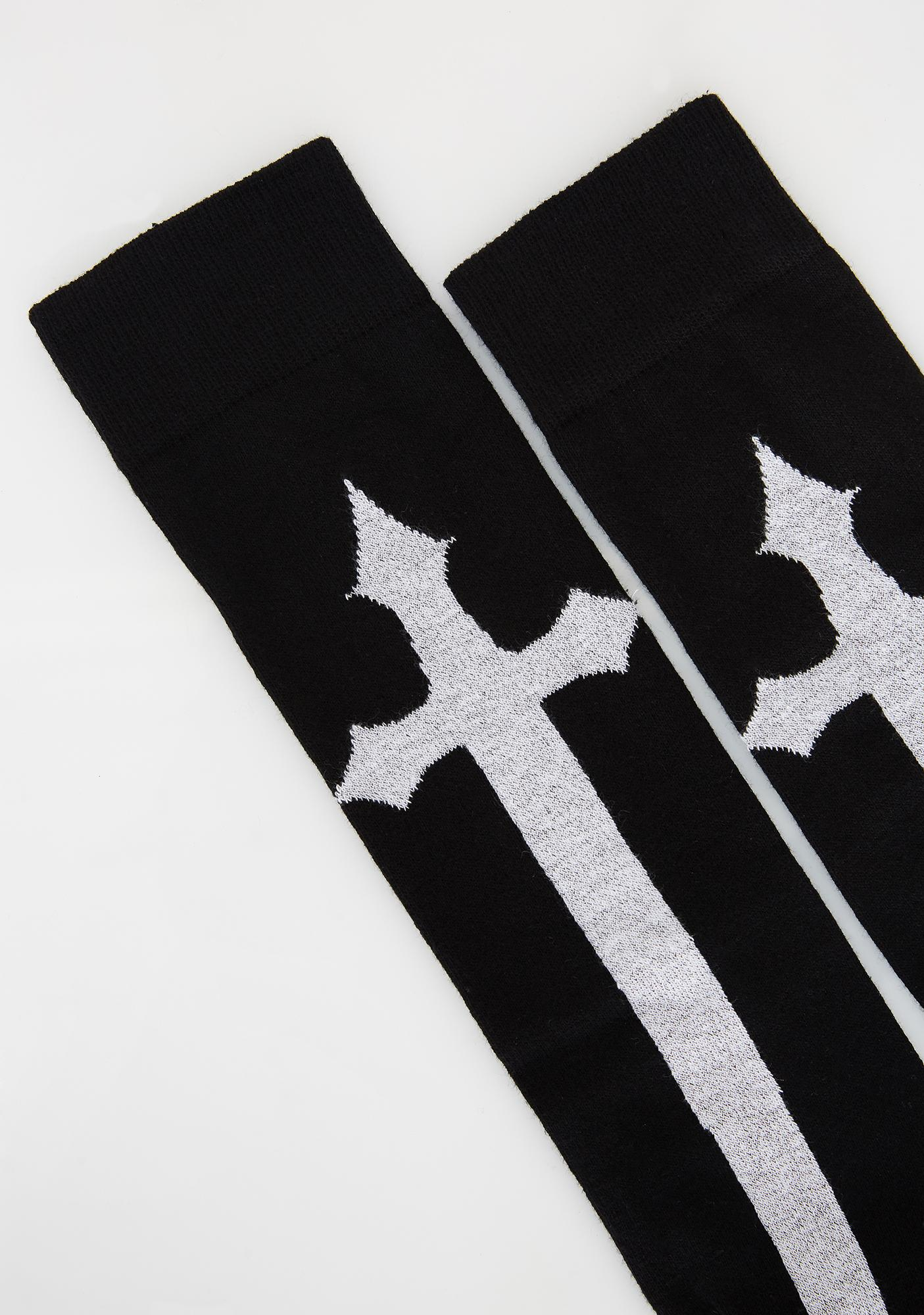 Sinister Confessions Cross Socks