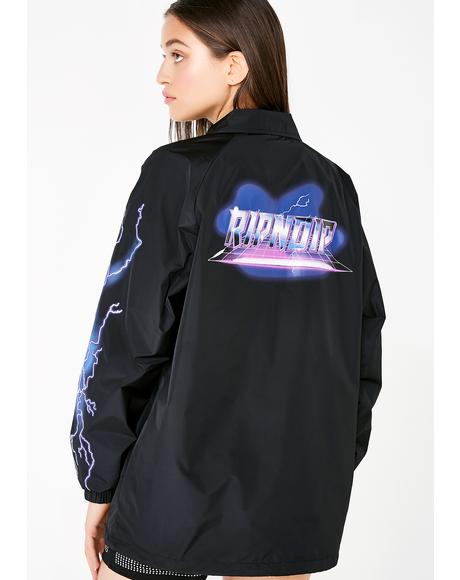 Rave Nylon Coaches Jacket
