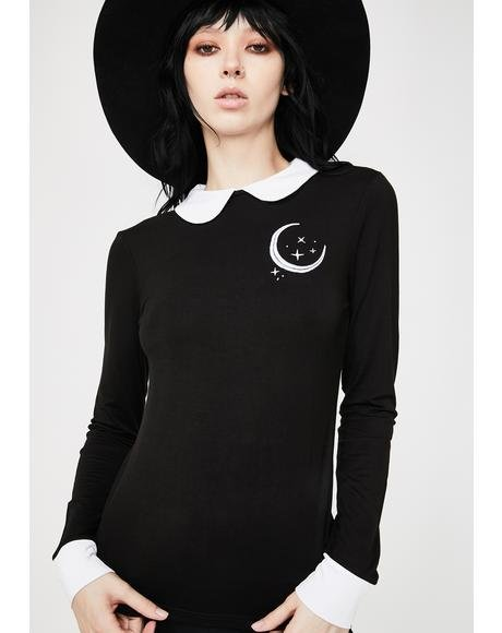 Moonscape Long Sleeve Top