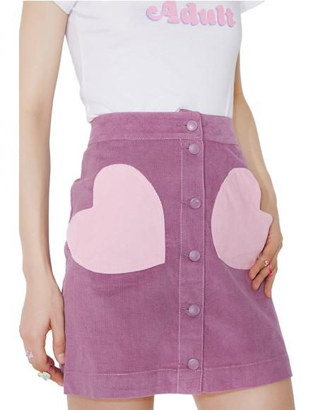 Pink Pocket Purple Skirt