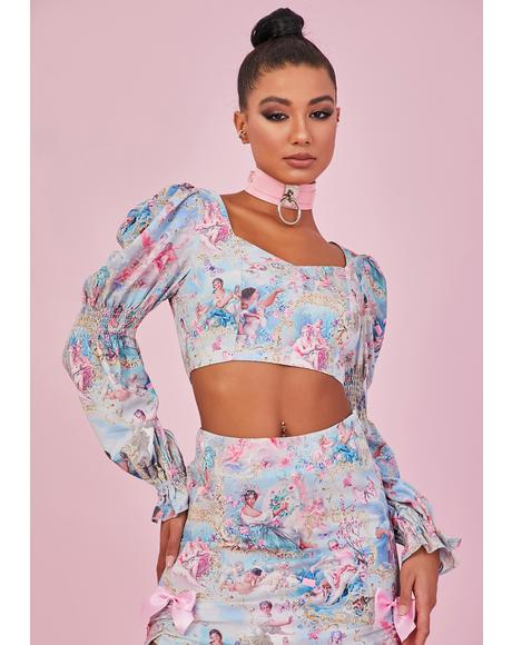 Divine Lush Opulence Puff Sleeve Top
