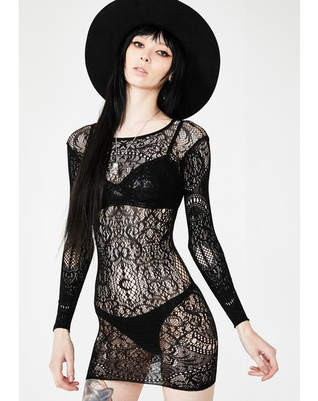 Ceres Chaos Lace Bodycon Dress