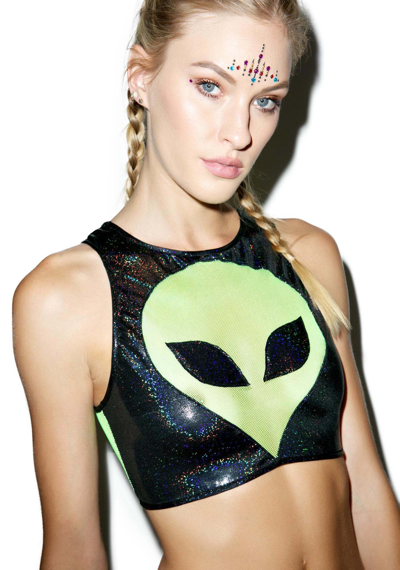 Turnt Alien Crop Top